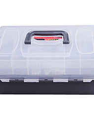 Portable Double-Layer Caja señuelo Tackle Box (30 * 18 * 15 cm)