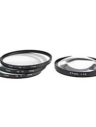 4pcs 77mm Close-Up Filter Kit für Kamera mit Filter Bag (+1, +2, +4, +10)
