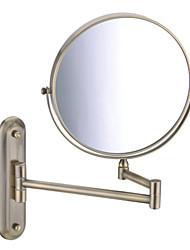 """Acabado Bronce de 180 grados giratoria de montaje en pared de 360 grados giratoria 8 """"espejo de bronce"""