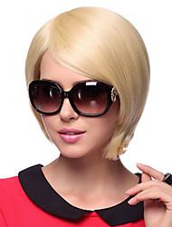 Capless Short Straight 100% Human Hair Wigs