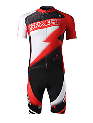 SPAKCT Cycling Jersey with Shorts Men's Short Sleeves Bike Jersey Shorts Clothing Suits Quick Dry Ultraviolet Resistant Moisture