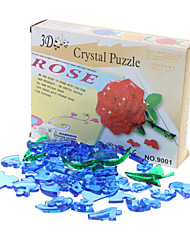 Cadeau du jour de Rose Puzzle 3D Crystal Saint-Valentin (44pcs, Modèle: 9001, couleur aléatoire)