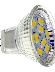 2w gu4 (mr11) projecteur led mr11 9 smd 5730 200 lm blanc chaud blanc 12 v