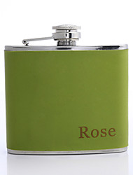 Personalized Father's Day Gift 5oz PU Leather Flask (Green,Pink,Red)