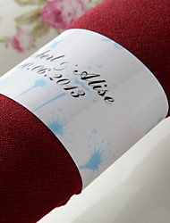 Personalized Paper Napkin Ring - Lovely Spring (Set of 50)