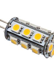2W G4 Ampoules Maïs LED T 18 SMD 5050 110 lm Blanc Chaud DC 12 V
