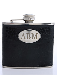Gift Groomsman Personalized Black 5-oz Flask
