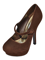 Fabulous Suede Stiletto Pumps mit Knopf Party / Abendschuhe