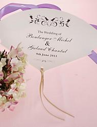 персонализированные бумага перлы руку вентилятор - черный цветок (набор из 12)