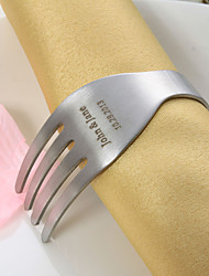 Personalized Fork Design Stainless Steel Napkin Ring