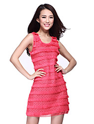 Performance Dancewear Chiffon Latin Dance Dress For Ladies(More Colors)
