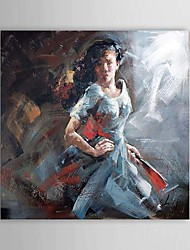 Pintado a mano de pintura de aceite personas 1303-PE0214