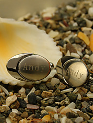 Gift Groomsman Personalized Oval Cufflinks With Gift Box