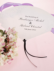 Perle personnalisé Eventail papier - Floral Design (Set of 12)
