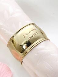 Personalizado simples anel de ouro guardanapo chapeado