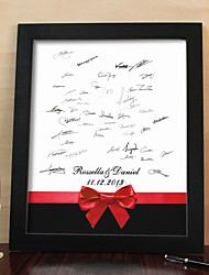 marco de lona firma personalizada - bowknot rojo (incluye marco)