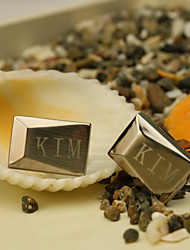 Gift Groomsman Personalized Simple Cufflinks With Gift Box