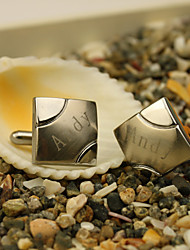 Gift Groomsman Personalized Square Cufflinks With Gift Box