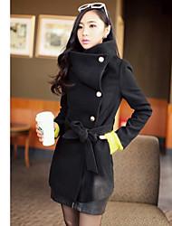 Belted Горох Tweed женские пальто