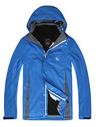 LANGZUYOUDANG Men's Detachable Hiking Rain Jacket Warm Waterproof