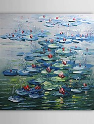 Hand Painted Oil Painting Landscape Lotus 1303-LS235