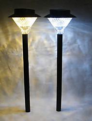 8 Lampe LED paysage de jardin en plastique solaire extérieure