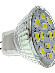 2w gu4 (mr11) proyector led 12 smd 5730 240-260 lm blanco natural dc 12 v