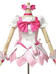 Inspiriert von PrettyCure Cure Blossom Anime Cosplay Kostüme Cosplay Kostüme / Kleider Patchwork Weiß / Rosa Kurze ÄrmelTop / Rock /