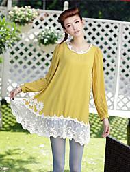 JSO balanço laço solto Fit vestido de chiffon (Amarelo)