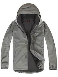 LANGZUYOUDANG Men's Outdoor Waterproof Warm Jacket Detachable Cap Windproof Breathability