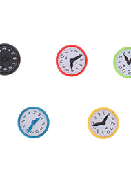 Colorful Clock Style Magnets (5-Pack)