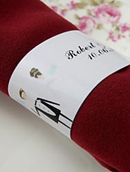 Anel de guardanapo personalizado de papel - o nosso grande dia (conjunto de 50)