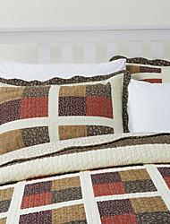 3 pièces plaid patchwork coton reine ensemble de couette bella
