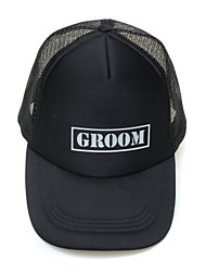 Black Sports Hat For Groom