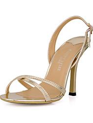 Gorgeous Kunstleder Stiletto Heel Sandaletten mit Schnalle Partei / Abendschuhe (mehr Farben)