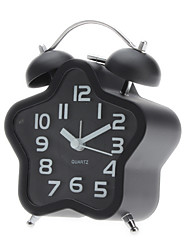 3D Star Style chiffres Double Bells Analog Clock Alarm Desktop (1xAA, couleurs assorties)