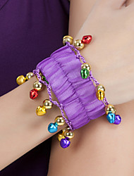 Performance Dancewear Chiffon with Small Bells Belly Dance Bracelet For Ladies More Colors