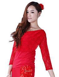 Ballroom Dance Tops Women's Training Lace / Viscose Natural