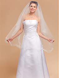 One-tier Fingertip Wedding Veils With Finished Edge