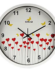 12 «mur de coeurs mur à ossature h de couleur Wlock de style moderne horloge