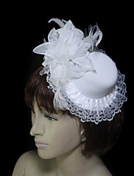 Beautiful Feather/Tulle With Flannelette Hat Wedding Fascinators