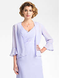 3/4 Bell Sleeve Chiffon Evening/Wedding Wrap/Evening Jacket (More Colors) Bolero Shrug