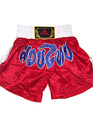 Kick Boxing Professional Embroidery Shorts White & Red (Average Size)