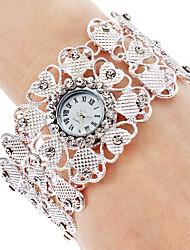Mulheres Relógio de Moda Relógio de Pulso Bracele Relógio Quartzo Banda Prata marca