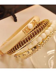 Bracelete de diamantes mergulhado simples do vintage das mulheres