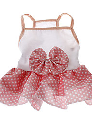 Dog Dress Pink Summer Polka Dots Wedding