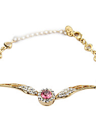 Women's Fashion Bracelet 18K Gold Plated Rhinestone