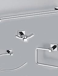 elegancesolid messing 4-delige badkamer accessoire set b (0605-0401 +0407 +0405 +0411)