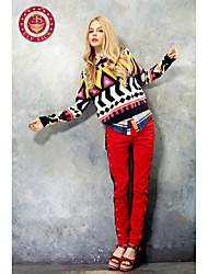 SACK ELF bolas de colores de contraste flacas Pantalones Largos