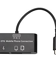 SG-007 Card Reader+HUB For SamSung Mobile Phone (Black)